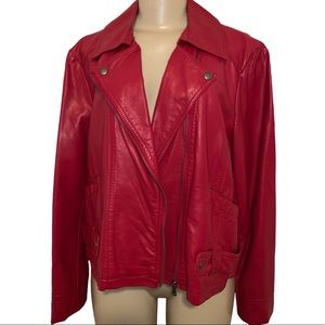 IZOD Red Faux Leather Jacket